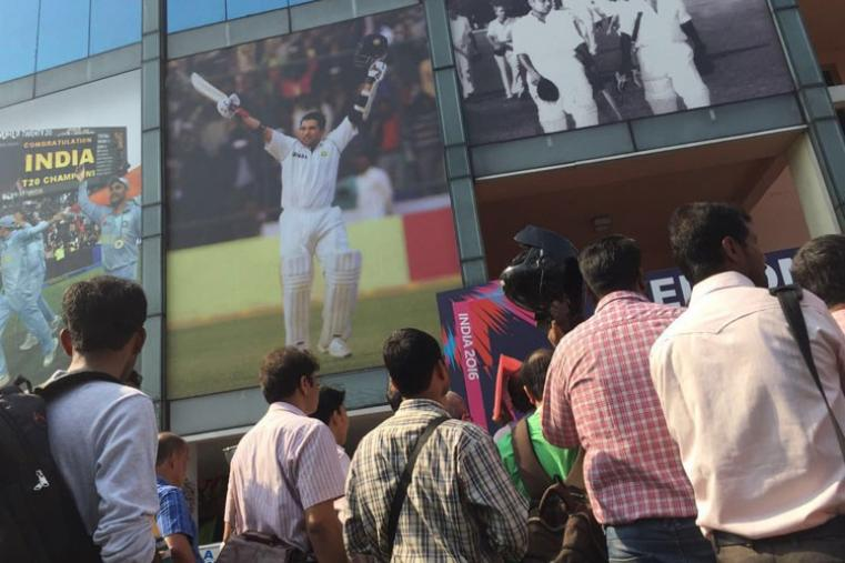 Non-availability of tickets did not stop fans from trying their luck outside the stadium.  (CricketNext)