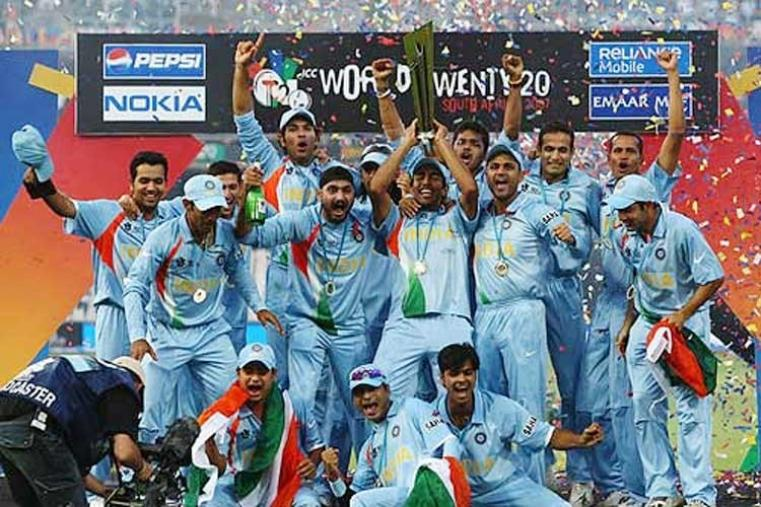 2007: Mahendra Singh Dhoni-led Team India lifted the inaugural ICC World Twenty20 title in 2007 after defeating arch-rivals Pakistan by five runs in a thrilling final. (Getty Images)