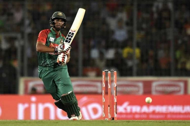 Mahmudullah produced some lower order fireworks as Bangladesh posted 125/5 in 15 overs in the Asia Cup final against India. (AFP Photo)