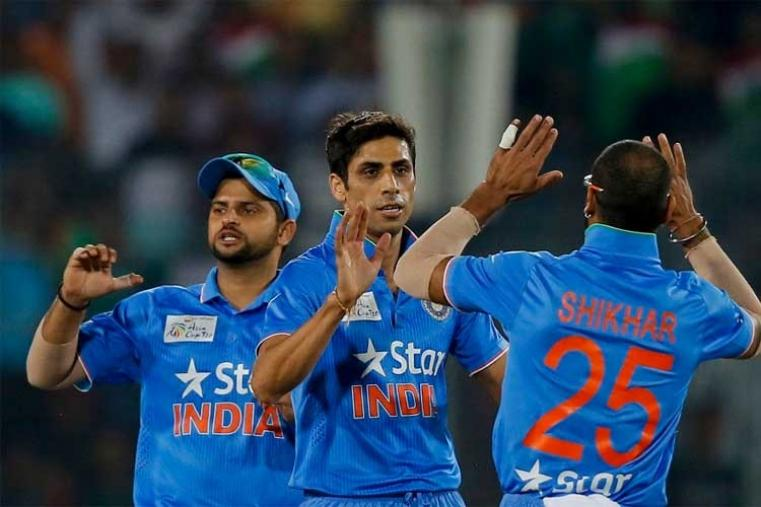 Indian pacers Jasprit Bumrah (1/13) and Ashish Nehra (1/33) made good use of the seam friendly conditions to remove the Bangladesh opener early on. (AP Photo)