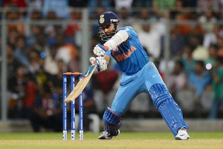 Dhawan, riding his luck initially, and Ajinkya Rahane (11) revived the innings with a brief stand of 32 before the latter was dismissed by Imran Tahir with a googly in the over after power play ended. (Getty Images)