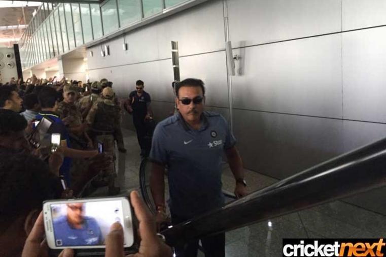 Team India director Ravi Shastri at the Kolkata airport.