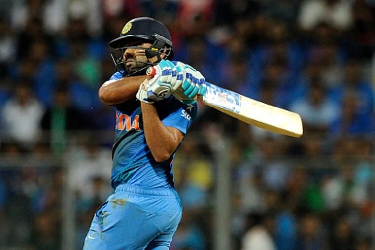 Rohit Sharma scored a 31-ball 43 to give India a flying start before falling to Samuel Badree. (Getty Images)