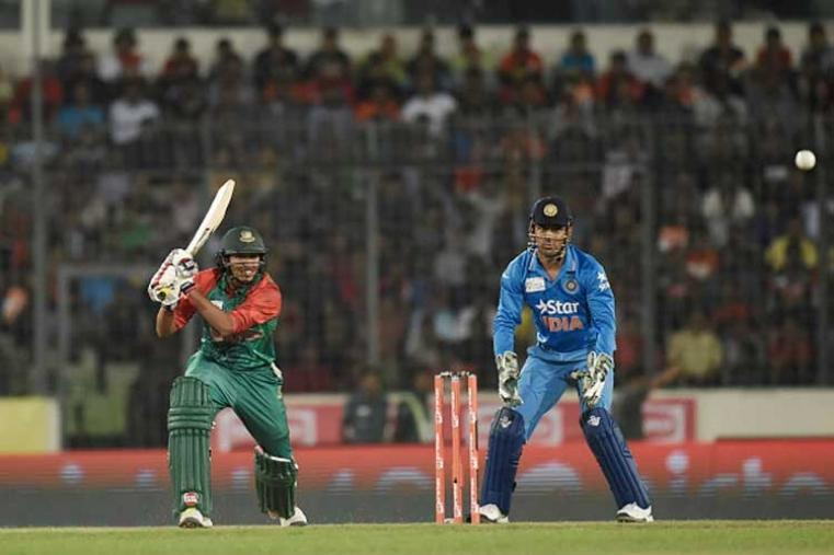 Soumya Sarkar scored 14 off 9 balls before being dismissed by Ashish Nehra. (Getty Images)