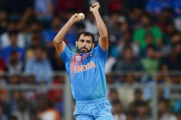 Mohammed Shami claimed 2 wickets in his four-over spell giving away 37 runs. (Getty Images)