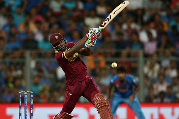 Andre Russell scored 20-ball 43 and had a crucial stand with Lendl Simmons to take West Indies to victory. (Getty Images)