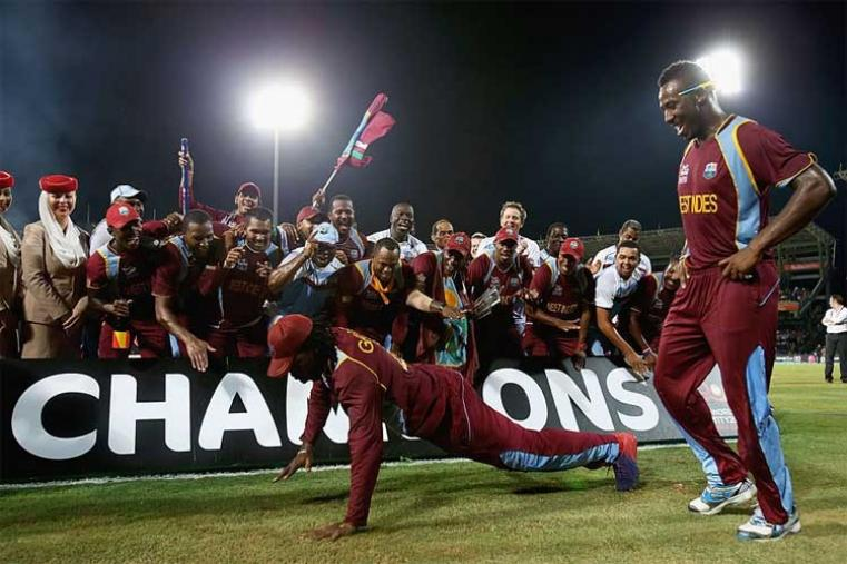 2012: Darren Sammy captained West Indies to a win over Sri Lanka in the final to clinch the World Twenty20 for the first time. (Getty Images)