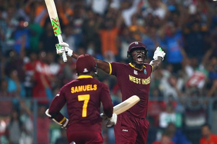 West Indies needed needed 19 off the last over and Brathwaitehis four sixes in a row to make West Indies the champions. (Getty Images)