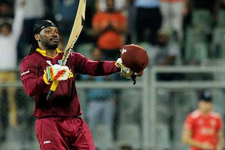 Gayle's 47-ball 100 not out in the opening match of Group 1 was a supreme example of how one should bat in the T20s. His fastest ton in World T20 made England's total of 182 for 6 look a tiny target as the West Indies won the match by six wickets with 11 balls to spare.  (Photo Credit: Getty Images)