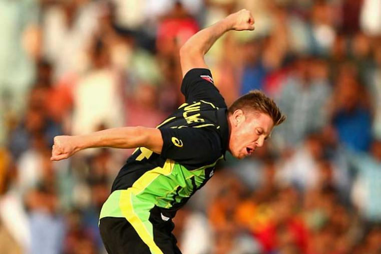After Bangladesh's Mustafizur's fiery five-wicket haul, Australia allrounder James Faulkner is the second player who took five wickets in the tournament. (Photo Credit: Getty Images)