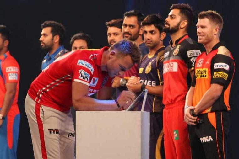 Kings XI Punjab captain David Miller signs the MCC pledge. (BCCI)