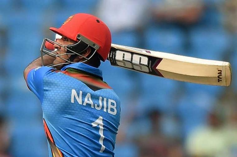 The tournament's most unbelievable result was Afghanistan's upset victory over eventual champions West Indies in a Group 1 league match.  But Najibullah's unbeaten 48 off 40 made him stand out. It was the highest score by any batsman in that match. (Photo Credit: Getty Images)