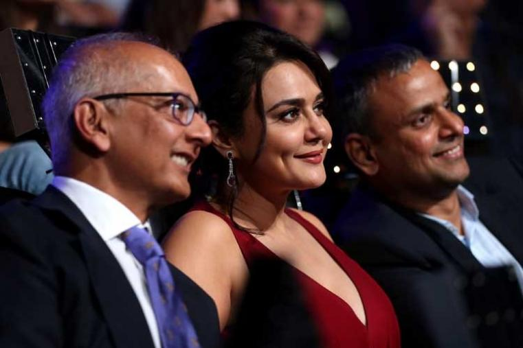 Preity Zinta owner of Kings XI Punjab during the opening ceremony. (BCCI)