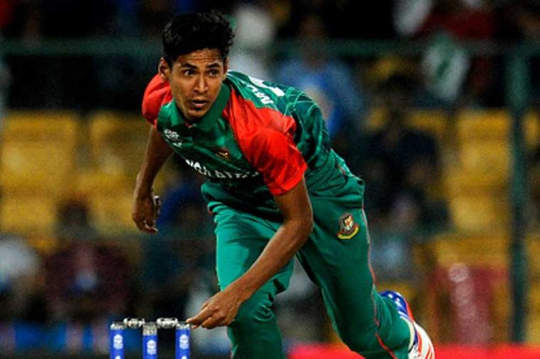 Bangladesh's Mustafizur Rahman recorded the magnificent figures of 5 for 22 in four overs as Bangladesh restricted in-form New Zealand to 145. He claimed the wickets of Henry Nicholls (7), Kane Williamson (42), Grant Elliott (9), Mitchell Santner (3) and Nathan McCullum (duck) to register a five-wicket haul. (Photo Credit: Getty Images)