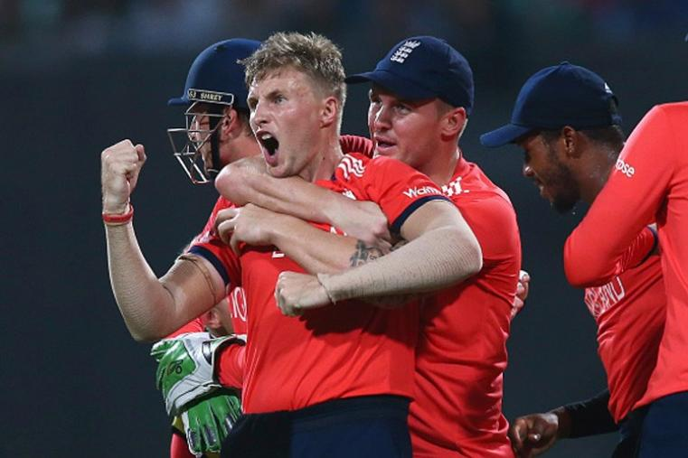 After his 54-run knock took England to 155/9, Root dismissed Johnson Charles (1) and Chris Gayle (4) in one over to put England on top. (Getty Images)