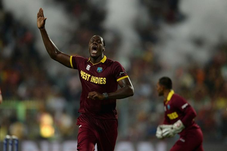 Carlos Brathwaite was the best bowler from West Indies. He too three wickets and gave away just 23 runs in 4 overs. (Getty Images)
