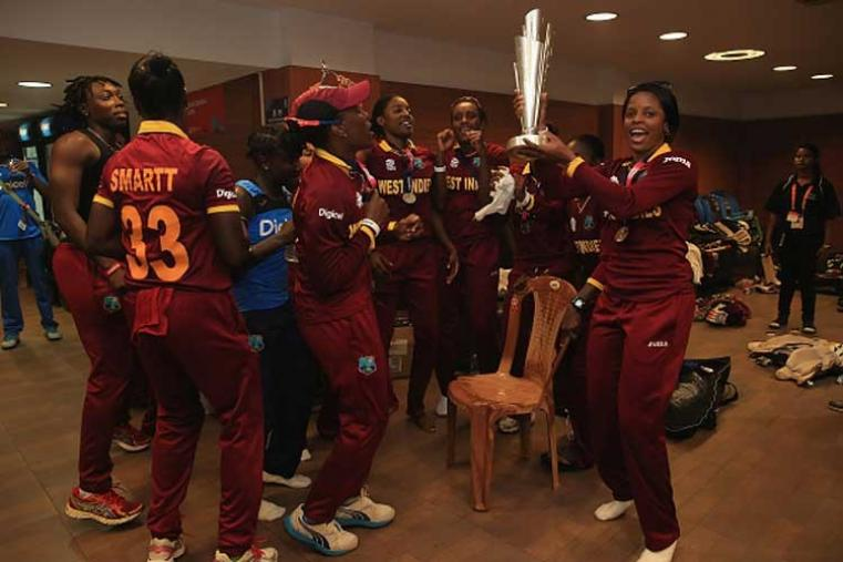 Riding on scintillating knocks from the opening duo of skipper Stafanie Taylor and Hayle Matthews, the West Indies annexed their first Women's World T20 crown with a convincing eight-wicket victory in the final over defending champions Australia at the Eden Gardens. (Getty Images)