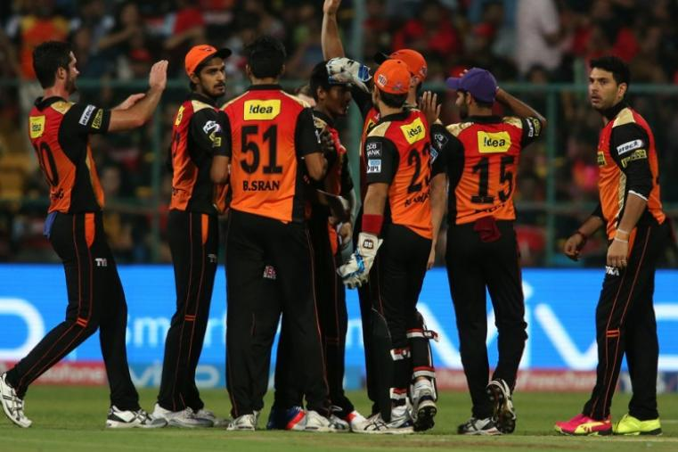Sunrisers Hyderabad made a stunning comeback with quick wickets and restricted Bangalore to 200/7 in 20 overs. (BCCI)