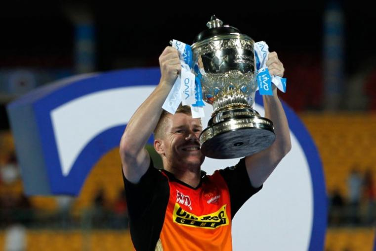 Interestingly, David Warner is the third Australian to lift the IPL trophy after Shane Warne and Adam Gilchrist. (Photo Credit: BCCI)