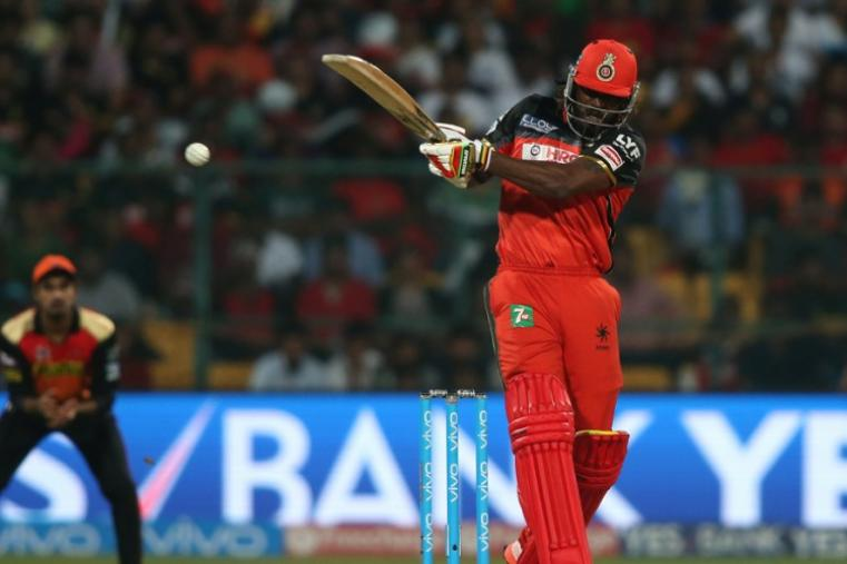 Chris Gayle scored 76 from 38 balls to give Bangalore a flying start in a big chase. (BCCI)