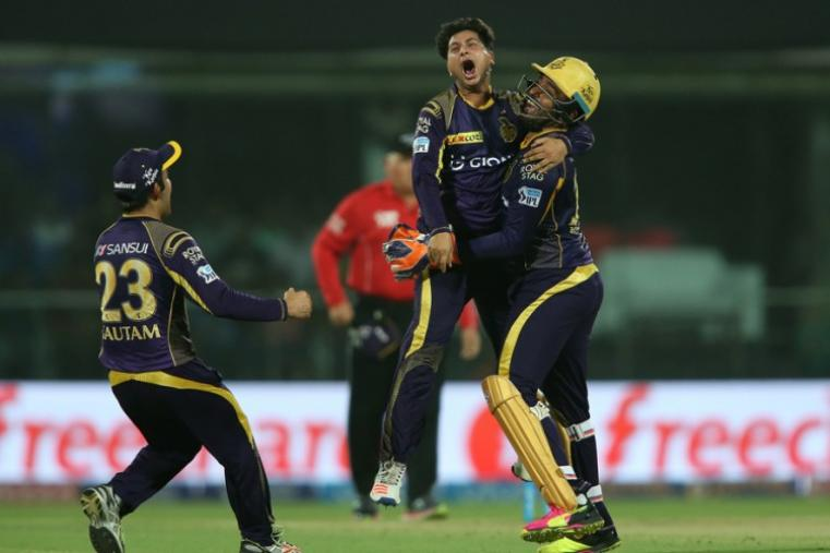 Kuldeep Yadav was the pick of the bowlers for Kolkata Knight Riders as he picked up three crucial wickets in four overs. (BCCI)