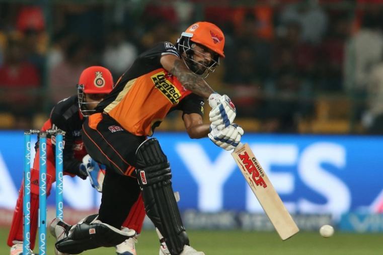 Shikhar Dhawan made 28 runs before falling to Yuzvendra Chahal. (BCCI)