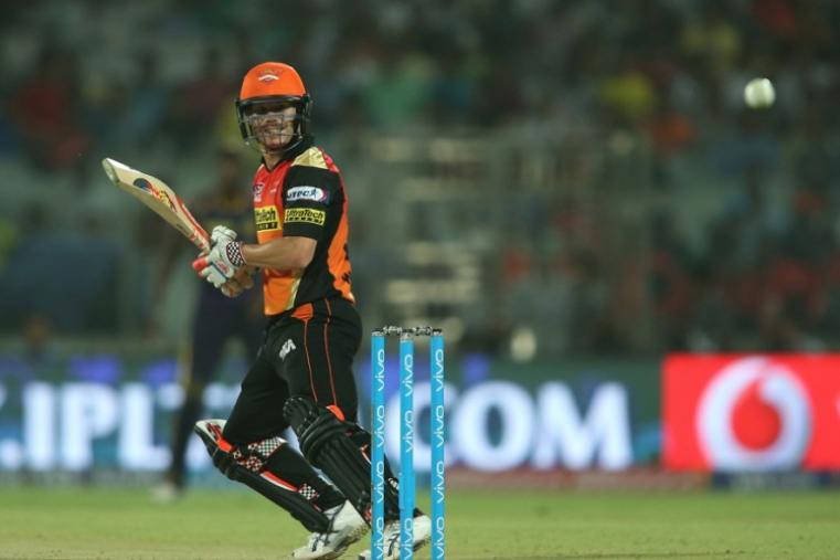Sunrisers hyderabad skipper David Warner made 28 runs off 28 balls before falling to Yadav. (BCCI)