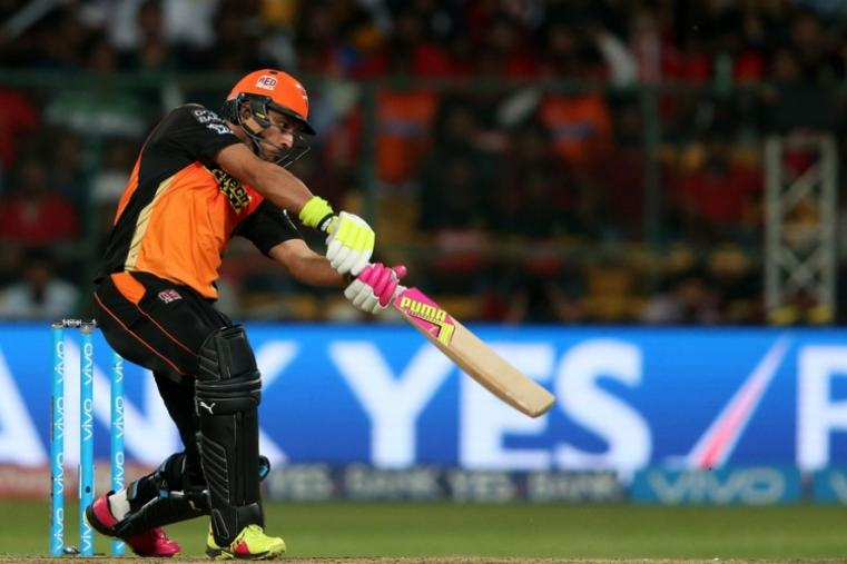 Yuvraj Singh made a quick-fire 38 and had a crucial stand with Warner to put Hyderabad on top. (BCCI)