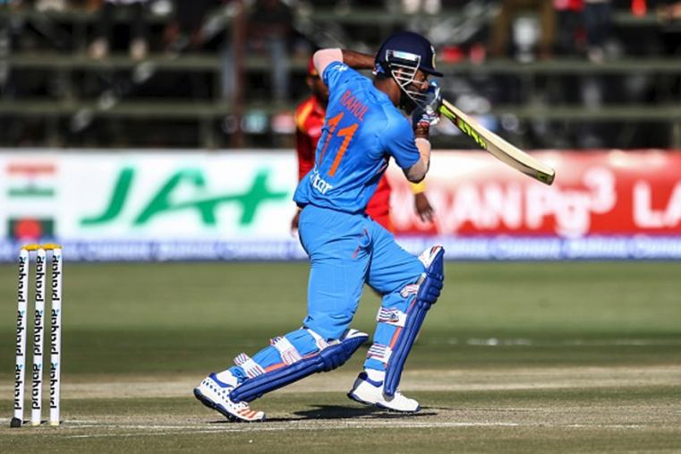 KL Rahul plays a shot during the match. (Photo Credit: Getty Images)
