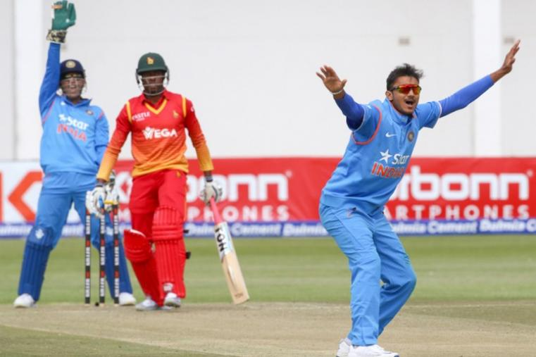 Axar Patel claimed one wicket in his 7.3-over spell conceding 22 runs. (AFP Photo)
