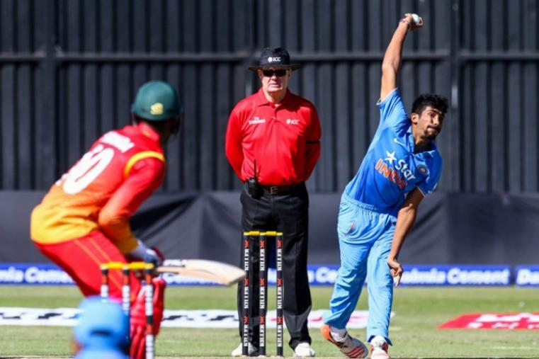 Jasprit Bumrah claimed 4 for 28 as India bowled Zimbabwe out for 168. (AFP Photo)