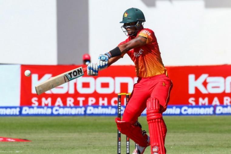 Chamu Chibhabha scored 13 runs before losing his wicket to Jasprit Bumrah. (AFP Photo)
