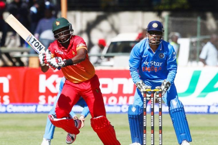 Zimbabwe, all out in 49.5 overs, would have found it tough to cross the 150-run mark if it was not for the efforts of Elton Chigumbura, who made a gritty 41 off 65 balls in his 200th ODI for his country. (AFP Photo)