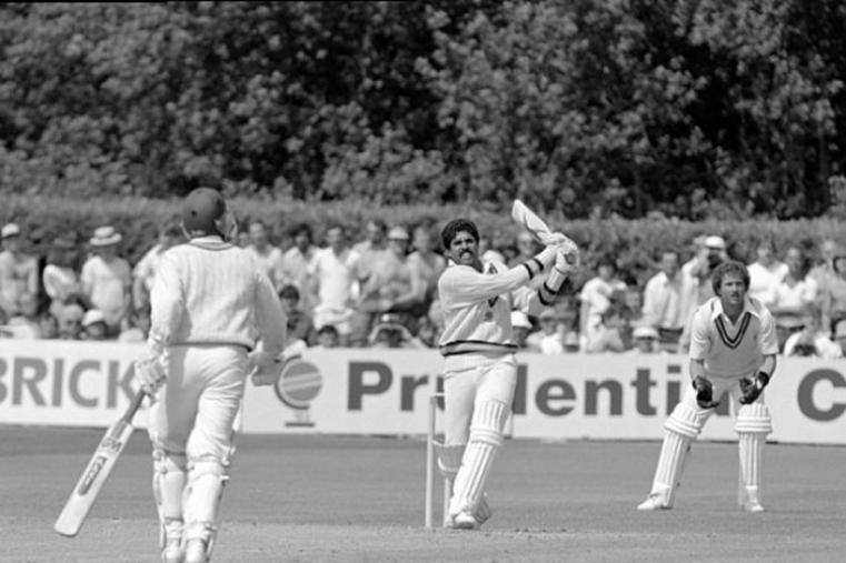 India were struggling at 17/5. Kapil Dev scored a blazing 175* and stirched a 126-run partnership with Syed Kirmani for the ninth wicket to give India a resounding victory. (Getty Images)