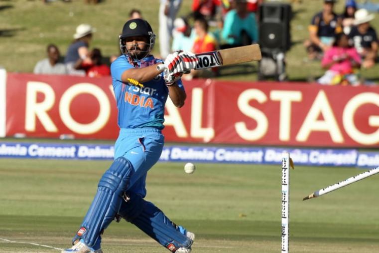 Kedar Jadhav scored 19 off 13 balls before falling to Muzarabani. (AP)