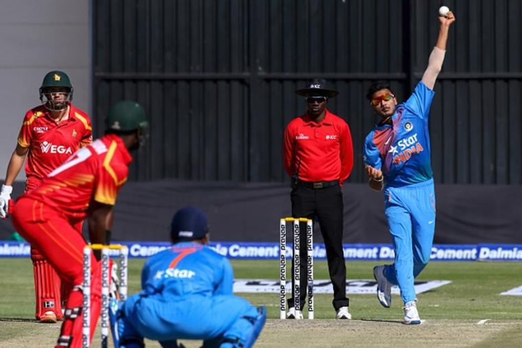 India rode on young seamer Barinder Sran's memorable debut performance to notch up a crushing 10-wicket victory over Zimbabwe in the second Twenty20 International and level the three-match series 1-1 on Sunday.