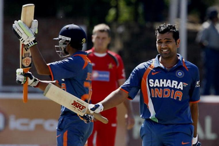 Rohit Sharma scored his maiden ODI century to take India to 285/5 but Zimbabwe won by six wickets. (Getty Images)