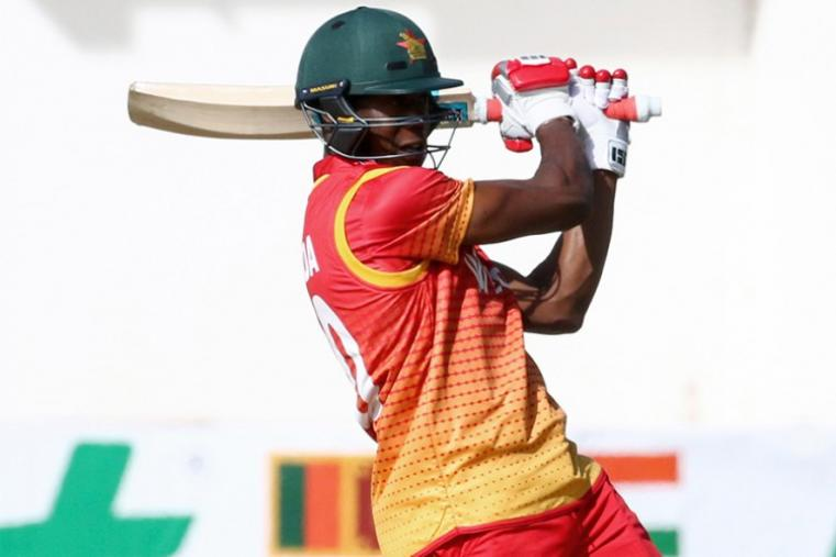 The experienced Vusi Sibanda gave the innings some momentum with a fighting 53 off 69 balls, but his fall led to a batting collapse. Sibanda was the lone warhorse for Zimbabwe as he completed his 21st ODI half century. His knock comprised six fours and a six. (AFP Photo)