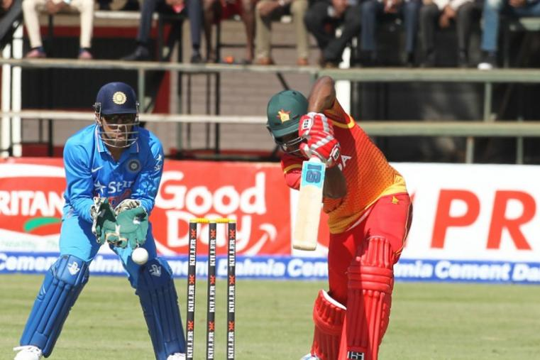 Vusi Sibanda was the top scorer for Zimbabwe with 38 runs but he idn't get much help from the other end. (AP)