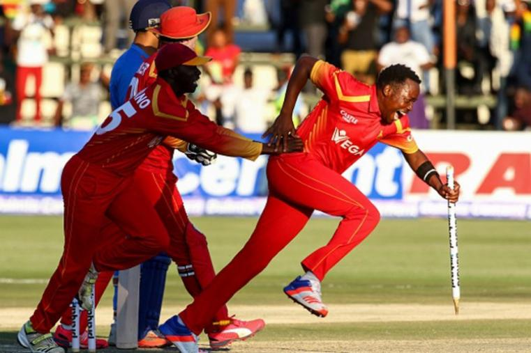 Zimbabwe registered a stunning two-run win against India after Neville Madziva bowled a brilliant last over. (Getty Images)