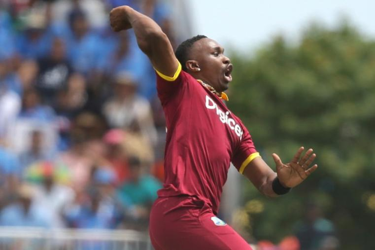 Just 8 runs were needed off the last over but Dwayne Bravo showed nerves of steel to clinch a one-run win for WI in the last-ball thriller. (AP)