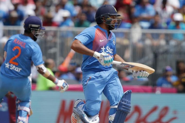 Rohit Sharma made 62 off 28 balls as India made a strong reply to WI's mammoth total.  (AP)