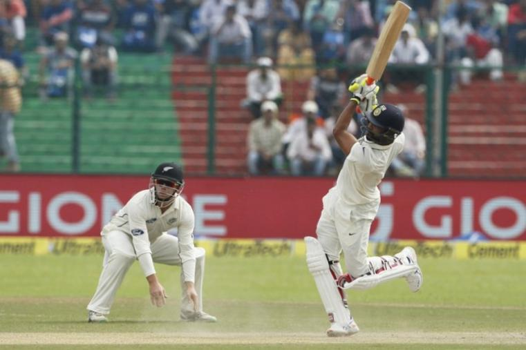 Overnight batsman Ravindra Jadeja played a useful 42-run cameo for the hosts, who started the day on 291 for nine. Jadeja struck seven fours and a six during his unbeaten knock as he entertained the crowd at Kanpur's Green Park. (BCCI Photo)