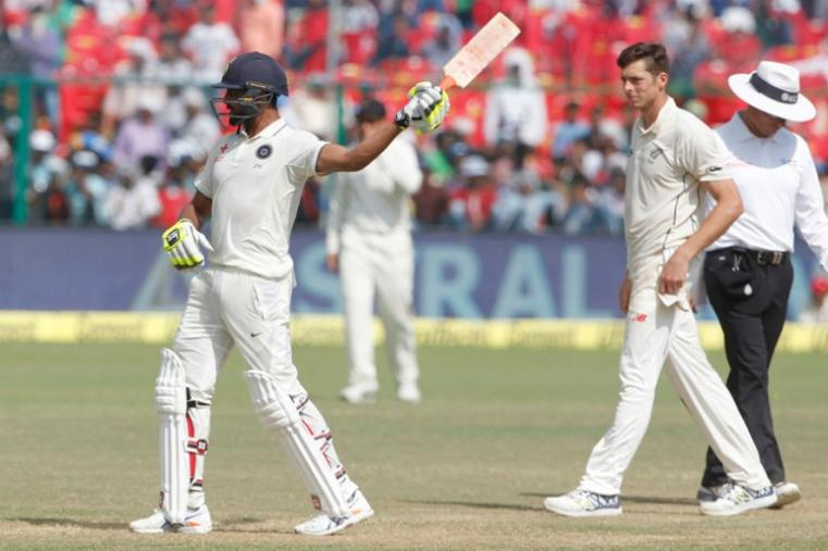 Rohit Sharma (68) and Ravindra Jadeja (50) stitched together an unbeaten 100 for the sixth wicket, and the umpires called for tea soon after the declaration by the hosts, playing their 500th Test. (BCCI Photo)