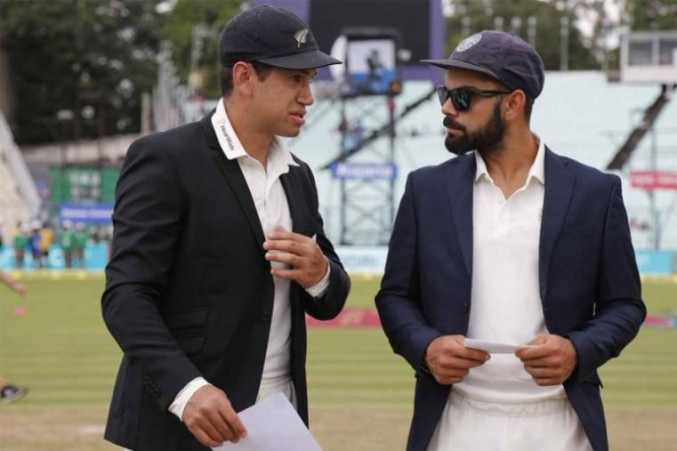 Virat Kohli and Ross Taylr in conversation during the toss. (BCCI Image)