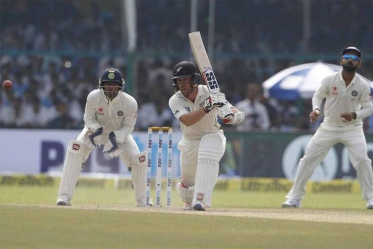 Luke Ronchi in action during his 38. (BCCI Images)