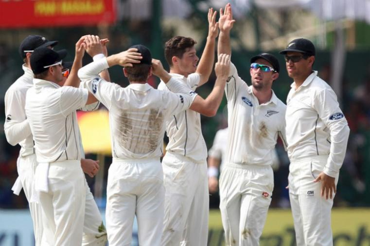 New Zealand spinner Mitchell Santner claimed two wickets. (BCCI Photo)
