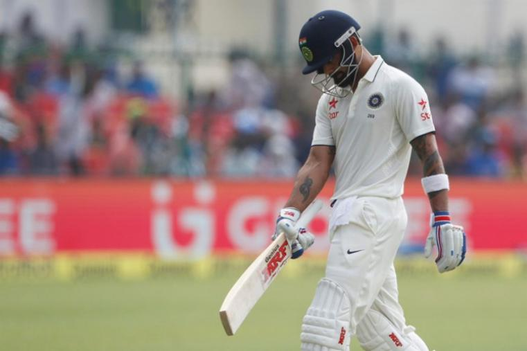 Captain Virat Kohli scored just 18 runs before being dismissed by Mark Craig. (BCCI Photo)