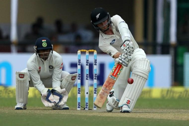 New Zealand skipper Kane Williamson and Tom Latham led a strong reply to take the visitors to 152 for one at stumps against India on a rain-hit second day. (BCCI Photo)