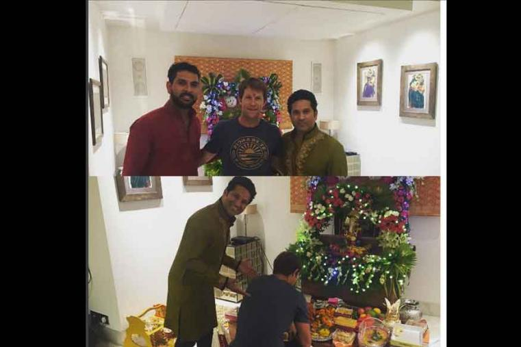 Sachin Tendulkar, who hails from Mumbai, celebrated the festival of Ganesh Chaturthi on Monday. The cricket legend wished his fans on the occasion through a tweet on the micro-blogging website Twitter.
